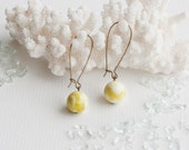 Lemon jade stone dangle earrings