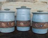 3 piece Canister Set in Light Grey