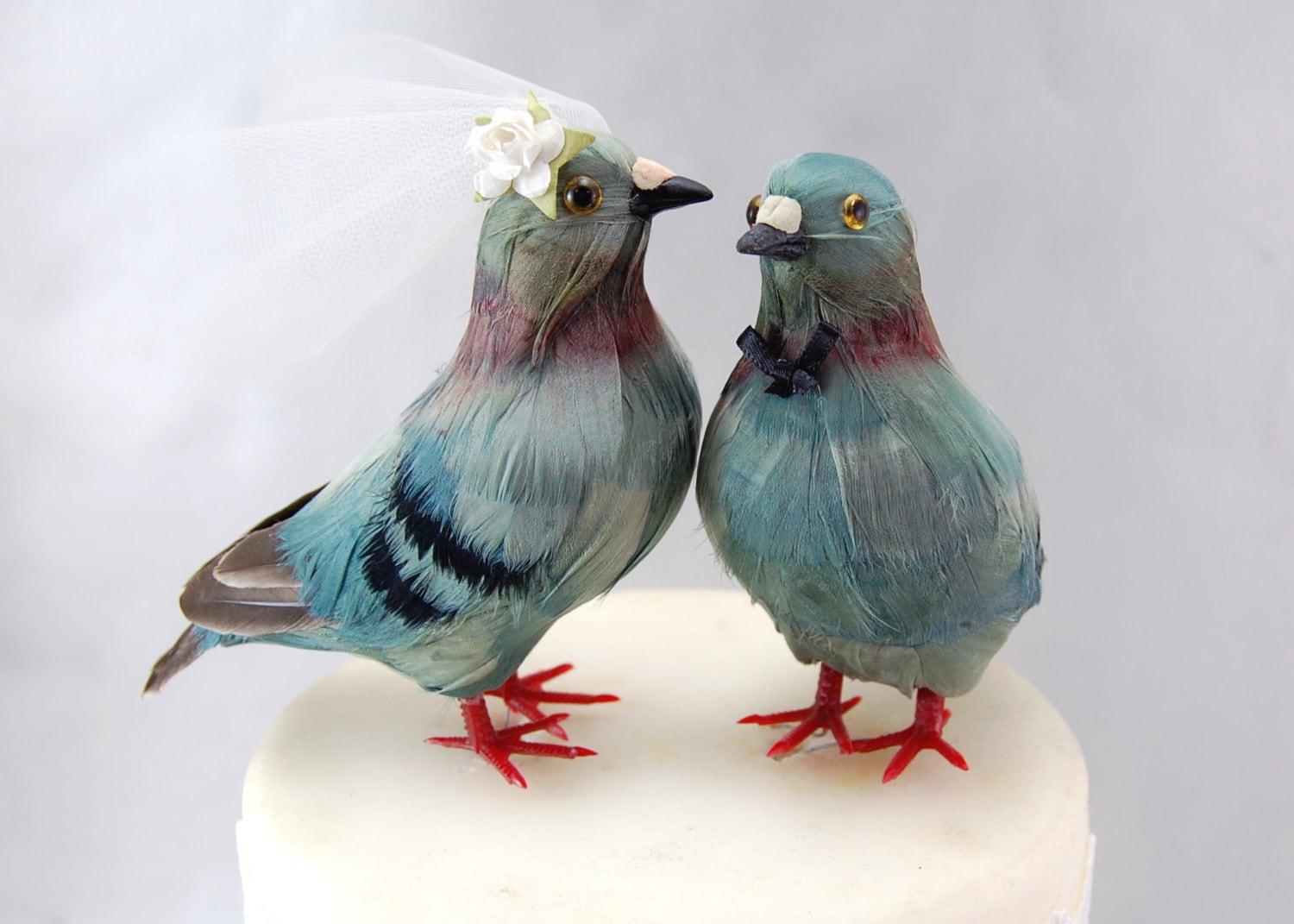 Pigeon Cake Topper Bride Groom Love Bird Wedding Cake