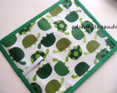 Green Turtle Chalkboard Mat - Green Turtle Roll Up Chalkboard - Green Turtle Travel Chalkboard - Turtle Chalkimamy - Travel Toy - Travel Mat