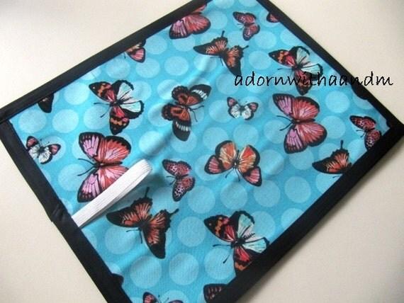 Chalkimamy Michael Miller Polka Dot butterfly TRAVEL chalkboard mat placemat (a)