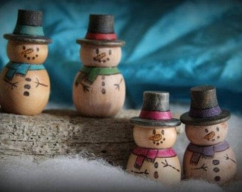Snowman pegdoll- Made to order