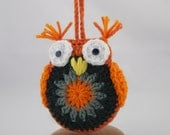 Amigurumi Crochet Owl done in Pumpkin