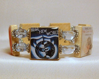 "BANNED BOOKS Bracelet / ""Right to Read"" / SCRABBLE / Handmade Jewelry / Book Lovers / Unusual Gifts- 2"