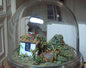 miniature landscape in dome