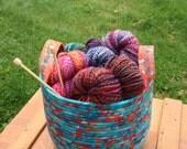 Colorful Cauldron - Koi Pond (Coiled Rope Basket)