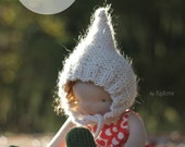 Knitting Pattern, Doll Hat, Waldorf Inspired Doll Clothing, Gnome Hat for Doll, DIY, Make your Own, Le Fig by Fig & me