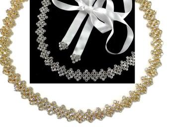 Gold Bridal Headband, Art Deco Wedding Headband, Bridal Halo, Crystal Bridal Hair Jewelry, Geometric Wedding Headpiece, DECORINA