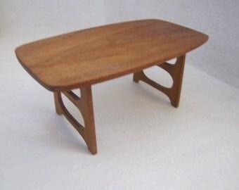 dollhouse miniature modern style hardwood dining room table
