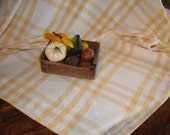 Table cloth  Cotton Yellow or Red natural  check  44 x 58  inches and  48 x 80  hand woven