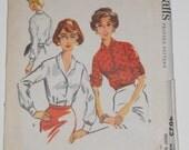 Vintage 50s Blouse Pattern McCalls 4625 Size 18 Bust 38