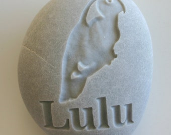 Custom Engraved Pet Memorial Bird Grave Stone Dog Cat Pet Loss Love Bird