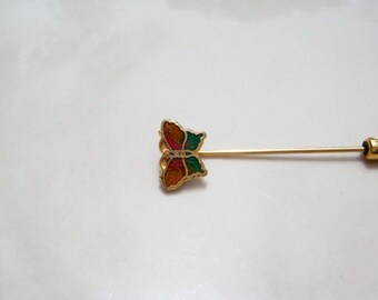 Mini Butterfly Stick Hat Pin Antique Vintage