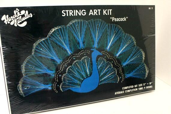 Vintage Hazel S Peacock String Art Kit Set Sealed In Box