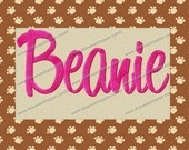 Beanie Embroidery Font