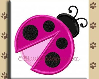 Applique Lady Bug Embroidery Design Includes 4 Sizes