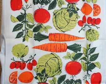 Vintage Fruits and Vegetables Kitchen Towel