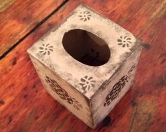 Paper Mache Vintage Mustard Tissue Box