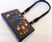 Aesop Fables Recycled Book Purse - Bedtime Stories Book Purse