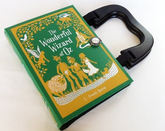 Wizard of Oz Recycled Book Purse - Wizard of Oz Book Clutch - Emerald City Book Purse