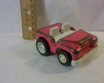 FREE SHIPPING Tonka pink jeep toy car vintage (Vault 15)