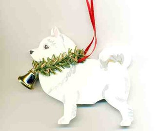 Hand-Painted SAMOYED Wood Christmas Ornament...Artist Original, Christmas Tree Ornament Decoration