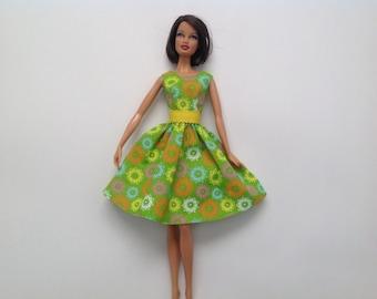 Barbie Clothes Handmade Basics LIV Green Dress Designs by P D Reneau