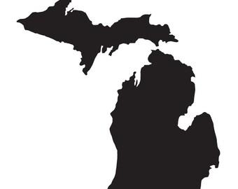 Michigan Silhouette Etsy