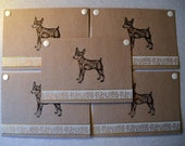 Miniature PINSCHER Min Pin dog note cards card gift hand crafted 5 pack rescue group