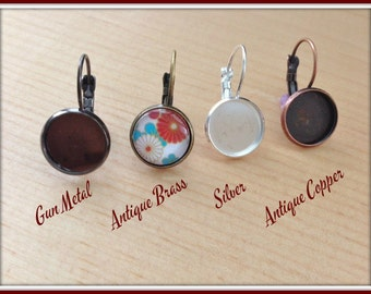 10pk..12mm Earring Trays... Make matching earrings to go with your pendants
