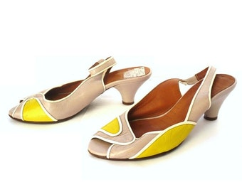 CHIE MIHARA Vintage Leather Sling Back