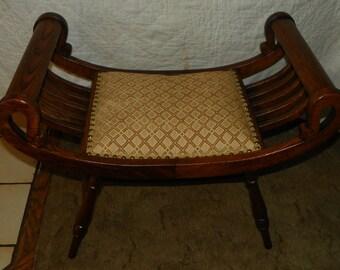 Quartersawn Oak Vanity Bench / Entry Bench