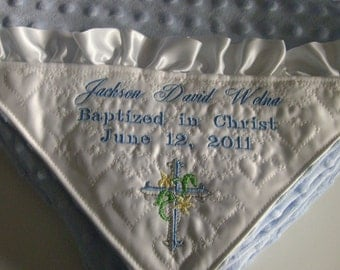 PERSONALIZED BABY BLANKET is ideal Baptism gift