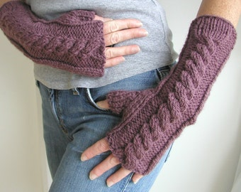 Hand and Arm Warmer Fingerless Gloves Knitting Pattern