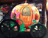 Charming Pumpkin Carriage  Ready to ship