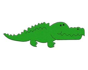 Alligator Crocodile Filled Machine Embroidery Design 4x4 and 5x7 Instant Download