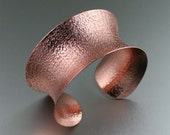 Texturized Copper Cuff Bracelet - Anticlastic Copper Cuff - Makes an Awesome 7th Anniversary Gift! - John S Brana Handmade Jewelry