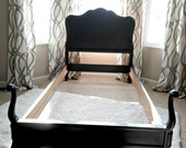 Shabby Black Bed - french provincial twin bed