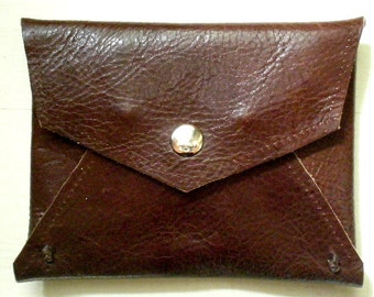 Small Leather  Wallet, Hand craft Envelope Leather Wallet