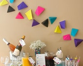 Geometric Triangular Brunch or Birthday PRINTABLE Party Collection - You Customize EDITABLE TEXT Instant Download