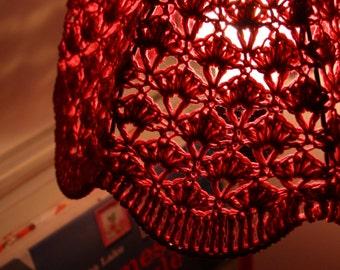 Crochet Lampshade - Fuchsia Pink