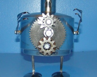 Robot Rollitron  Recycled,Upcycle,Assemblage,Found Object,Reclaimed