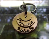 7 Year Three Rings  Copper keychain