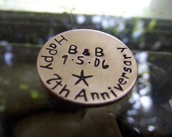 7th Anniversary Love Coin, Wedding coin, vow coin,lucky coin