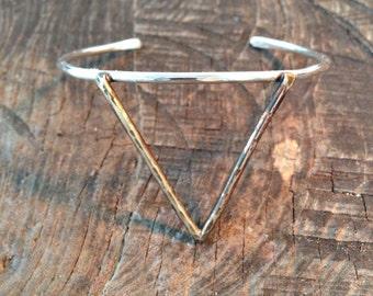 Triangle cuff bracelet