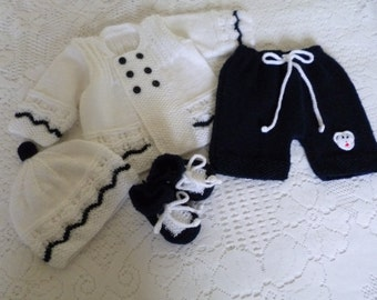 Baby  Outfit,  Baby Shower Gift, Take Home Set, Newborn  Set, Knitted  Baby Boy Outfit,  Coming Home Suit, Ready to Ship.