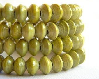 Paper Bead Jewelry - Memory Wire Bracelet - #CGM303
