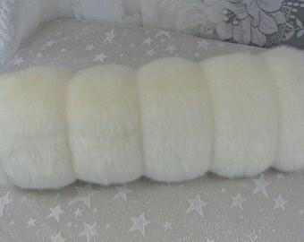 Creamy White Mink Faux Fur Hand MUFF, Women's Hand Muff, Faux Fur Muff, Hand Muff, Cream Mink Muff