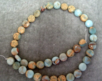 """Full 16"""" Strand of African Opal 10mm Coin Gemstones (109)"""
