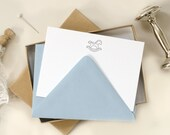 Baby Letterpress Note Cards with Rocking Horse (Set of 10) - Pink, Blue or Green Envelopes
